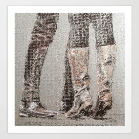 Tiptoes Art Print