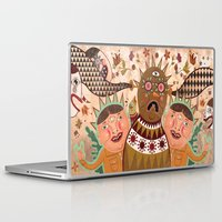surrealism Laptop & iPad Skins featuring Folk Surrealism by CrazyMavis