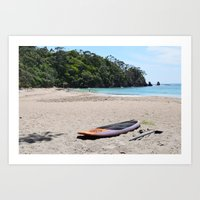 New Zealand Summer, Whananaki Art Print