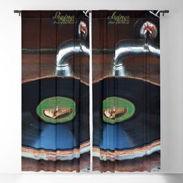 Vintage Gramophone Vinyl Record Player Blackout Curtain
