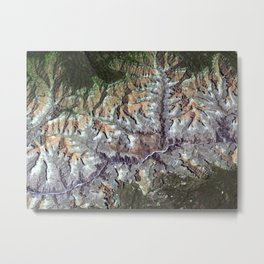 Arizona's Grand Canyon Satellite Photograph Metal Print