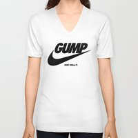 forrest gump V-neck T-shirts featuring Gump Just Do It by IIIIHiveIIII