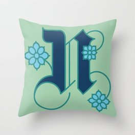 Letter 'N' is for Nigella Throw Pillow