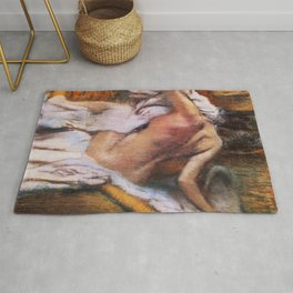 After The Bath Woman Drying Herself 1892 By Edgar Degas | Reproduction | Famous French Painter Rug