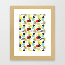 Dots party colorful bubble pattern design combined textures wrap Framed Art Print