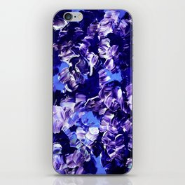 FLORAL FANTASY 2 Bold  Blue Lavender Purple Abstract Flowers Acrylic Textural Painting Garden Art iPhone Skin