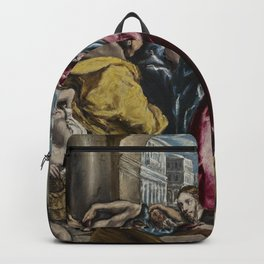 El Greco The Purification of the Temple Backpack