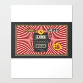 Super Slot Machine - Nevada Day Canvas Print