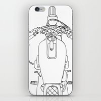motorbike iPhone & iPod Skins featuring Motorbike by Jessica Slater Design & Illustration