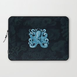 Octopus1 (Blue, Square) Laptop Sleeve
