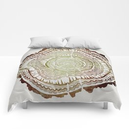 Tree Rings – Watercolor Ombre Comforters