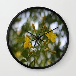 Shaded Carolina Jessamine Wall Clock