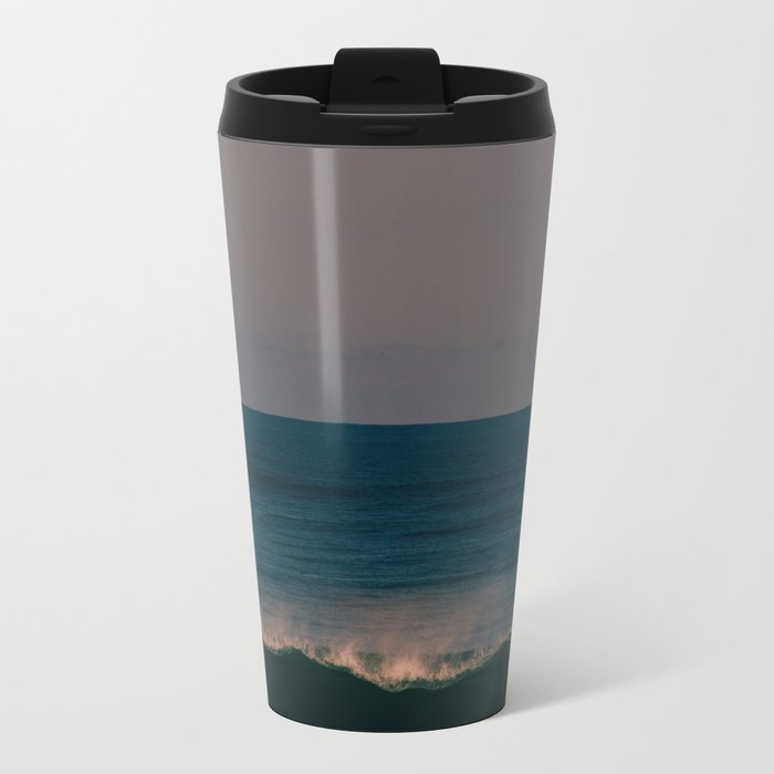 Winter Wave Metal Travel Mug