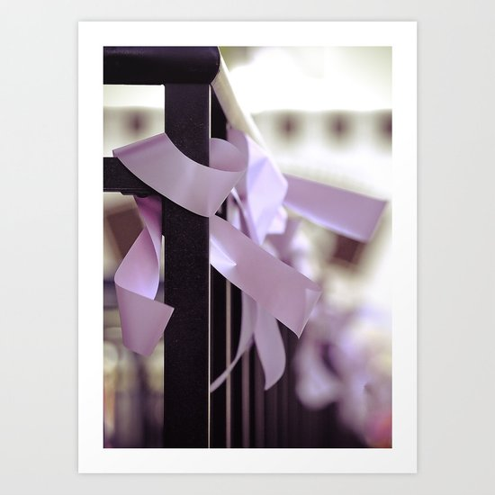 Komen race for the cure. together we can find a cure Art Print