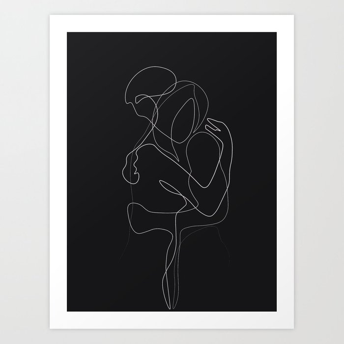 Lovers DarkVersion Art Print