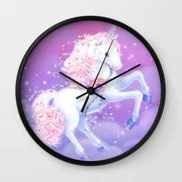 Purple Unicorn Magic Wall Clock