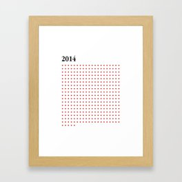 2014 RED HEARTS Framed Art Print