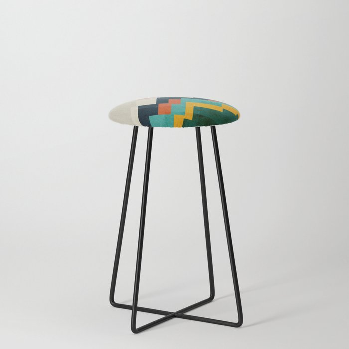 The hills are alive Counter Stool
