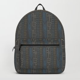 Tribal Teal Feather Backpack