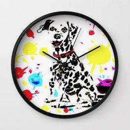 Dashing Dalmatian Wall Clock