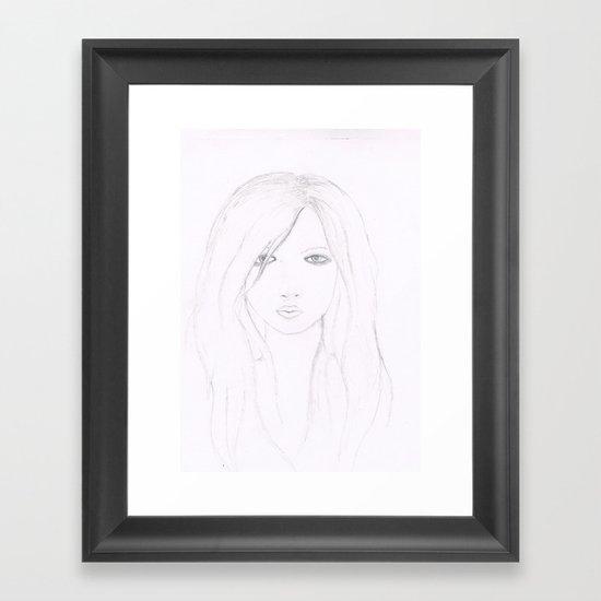 A Girl. Framed Art Print