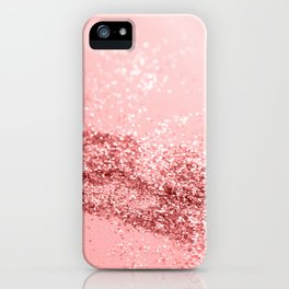 Summer Vibes Glitter #6 #coral #shiny #decor #art #society6 iPhone Case