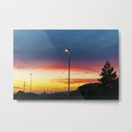 townscape at sunset Metal Print