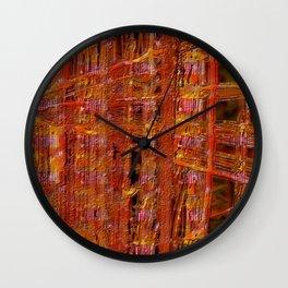abstract  ~ rust imprint Wall Clock
