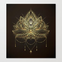 Ornamental Lotus flower Canvas Print