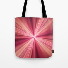 Pink Rays Abstract Fractal Art Tote Bag