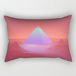 Blue Pyramid Rectangular Pillow