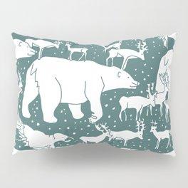 Polar gathering (emerald) Pillow Sham
