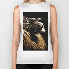 Lion Profile Biker Tank