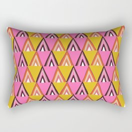 arcadia, mid-century inspired pattern Rectangular Pillow