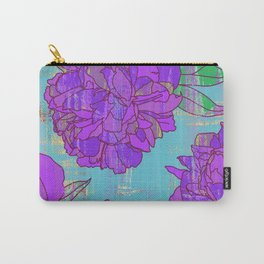 Purple peonies print, pastel colors floral pattern Carry-All Pouch