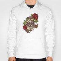 sugar skull Hoodies featuring Sugar Skull by Valentina Harper