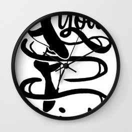 MAKE YOUR POINTE RACERBACK TANK Wall Clock