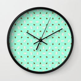 Chicken and Pine-Cones Wall Clock