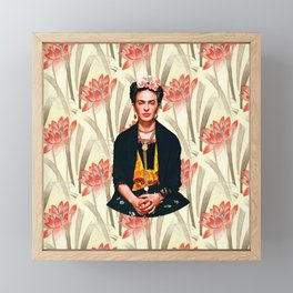 Frida Kahlo Queen of Flowers Framed Mini Art Print