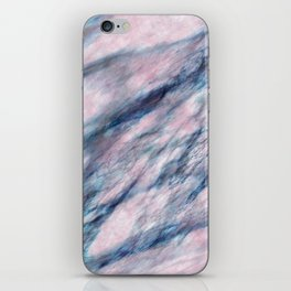 Red Blue Marble iPhone Skin