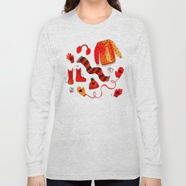 Baby It's Cold Outside - Winter Warmers Watercolor Long Sleeve T-shirt