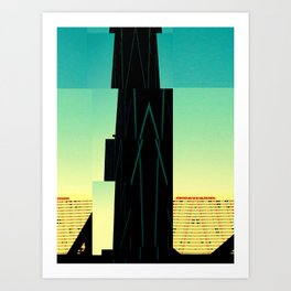 The Building is Not There Art Print