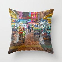 China Town Thailand Throw Pillow