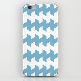 jaggered and staggered in dusk blue iPhone Skin