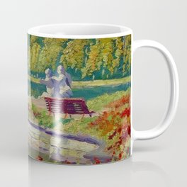 Lake and Gardens with Statuary Landscape by Nikolay Bogdanov-Belsky Coffee Mug