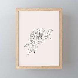 Tropical flower illustration - Mona I Framed Mini Art Print