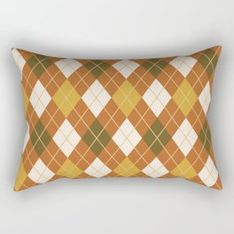 Autumn Argyle Plaid Rectangular Pillow