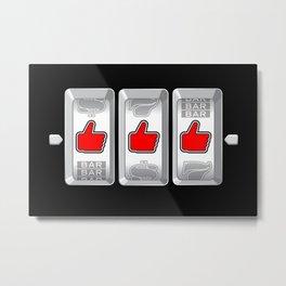 Jackpot / Slot machine hitting three thumbs up Metal Print