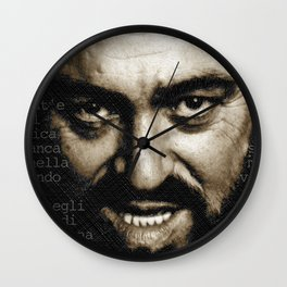 Luciano Pavarotti Wall Clock