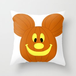 Smiling Pumpkin Throw Pillow